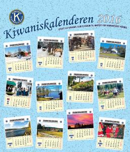 Kiwanis kalender 2016 front
